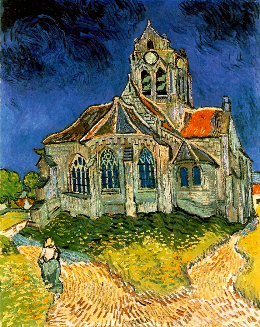 The Church at Auvers , 1890
