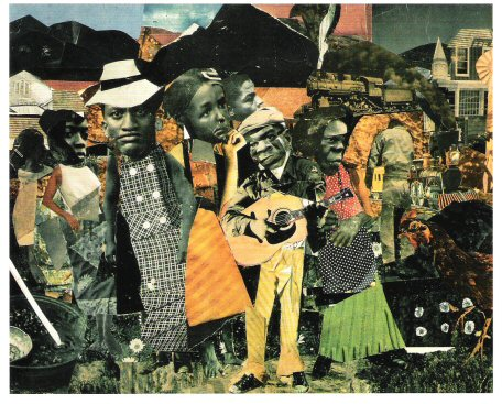 Romare Bearden,  Watching the Good Train Go By , 1964