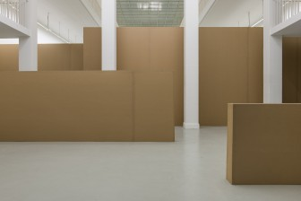 Untitled (Cardboard Wall Sculpture),  2013