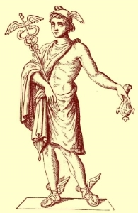 Hermes, the trickster, patron god of artists
