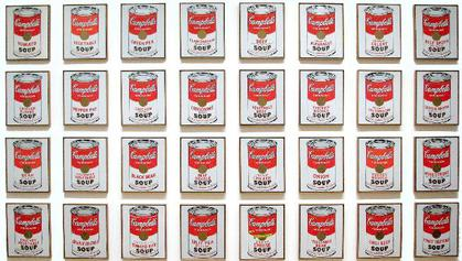 Andy Warhol,  32 Campbells Soup Cans , 1962