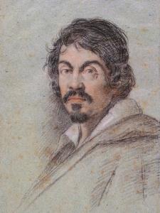 Ottavio Leoni,  Portrait of Caravaggio,  c 1621