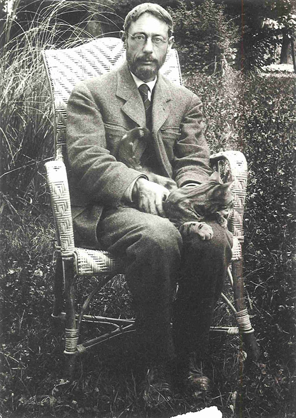 Pierre Bonnard and cat.