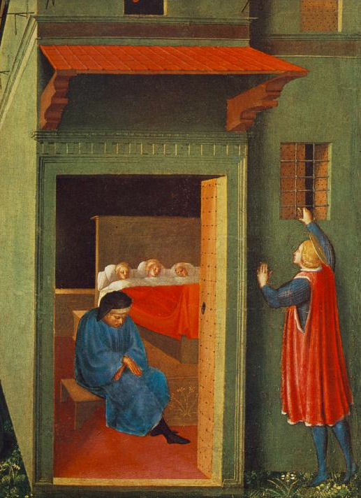 5 St.-Nicholas Giving Dowry to Three Poor Girls by Fra Angelico.jpg
