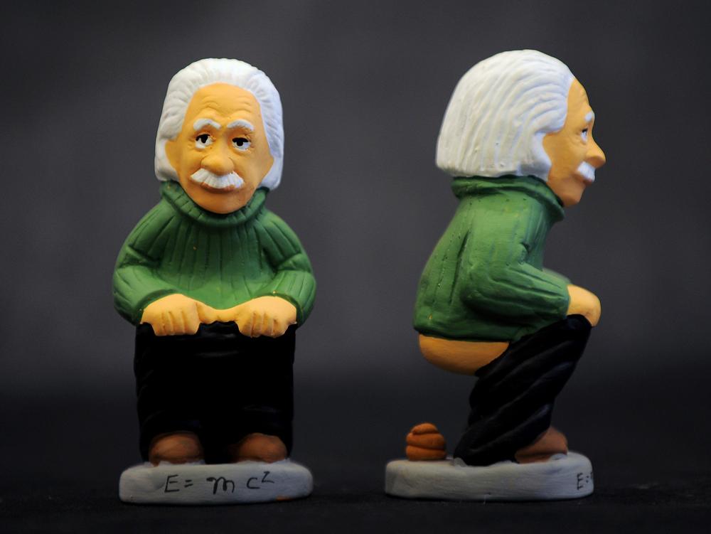 Einstein caganer.jpg