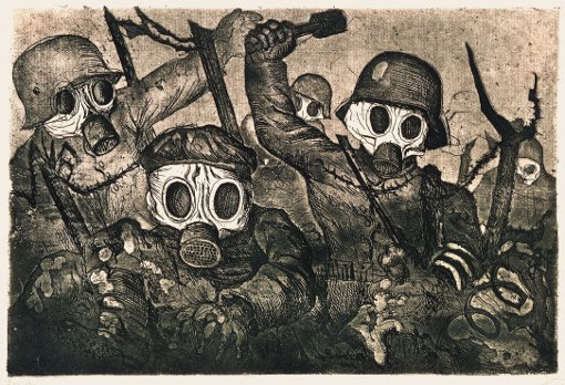 Storm Troopers Advancing Under a Gas attack, 1924