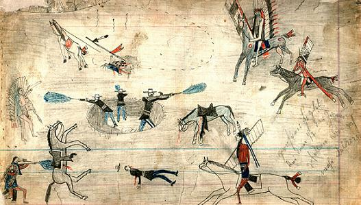 Unknown Battle by Unknown Kiowa Artist