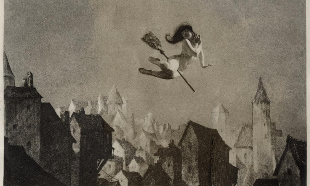 William Mortensen,Off For the Sabbot, 1927