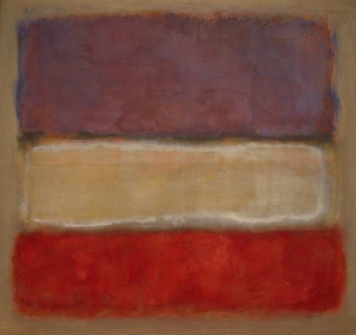 Untitled (Purple, White, and Red), 1953