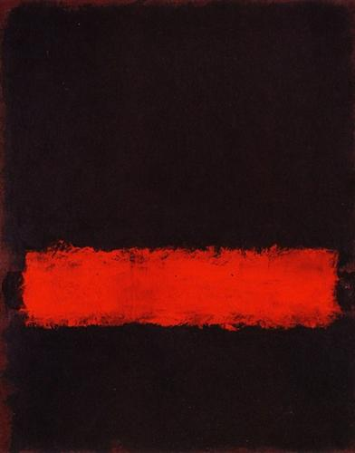 Untitled (Black, Red, and Black), 1968