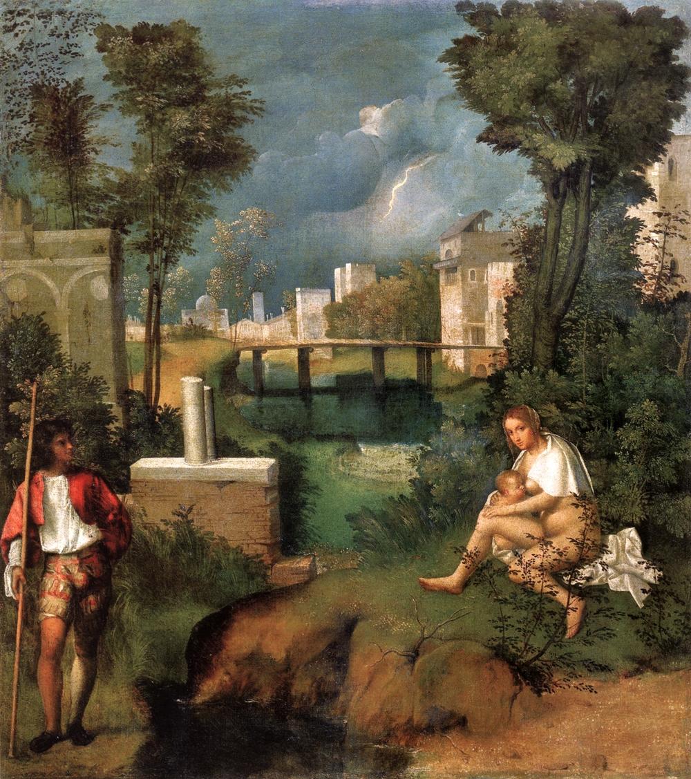 Giorgione's The Tempest, 1507.