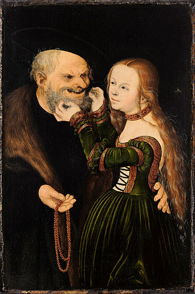 The Unequal Couple (Old Man in Love), c 1530