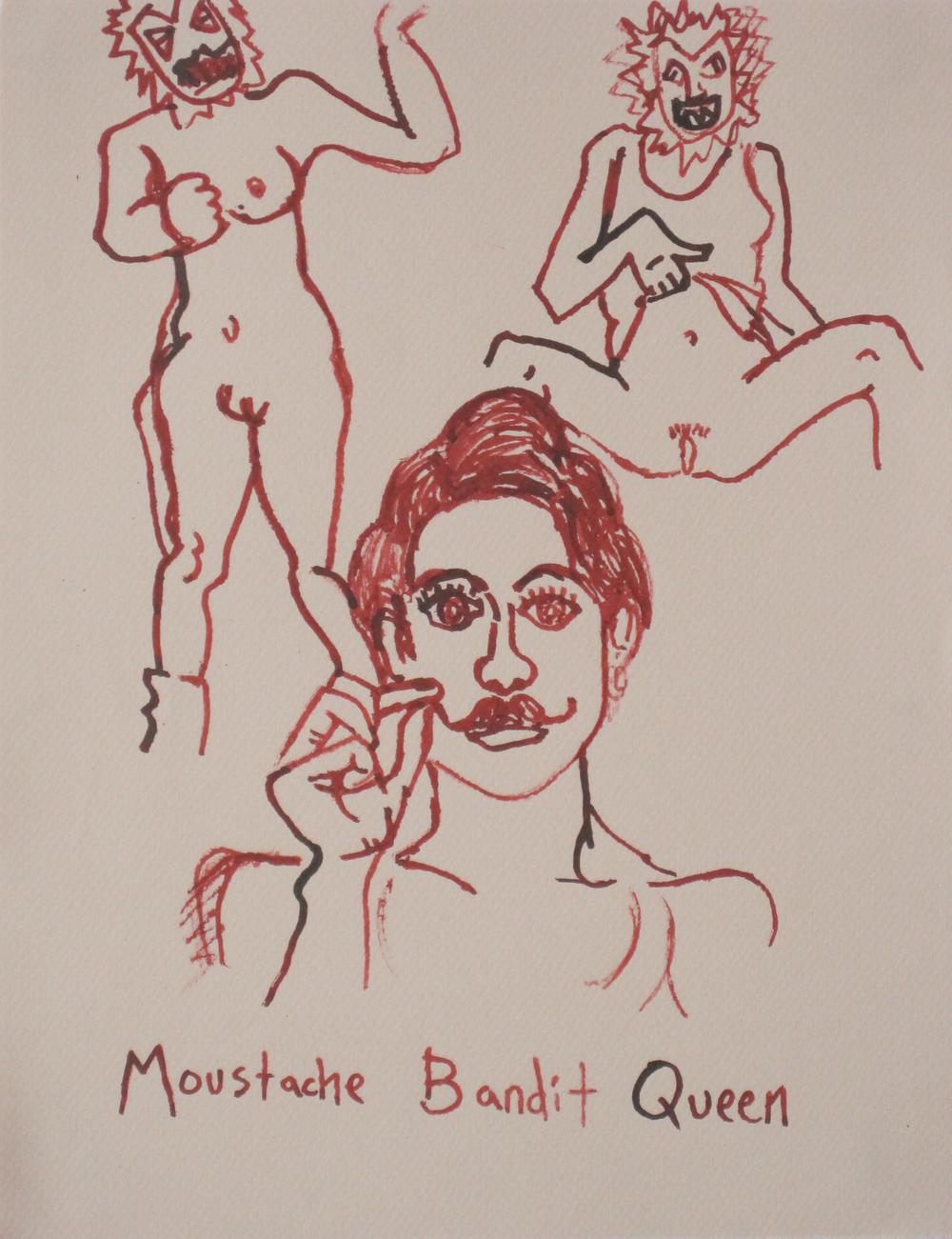 Mustache Bandit Queen