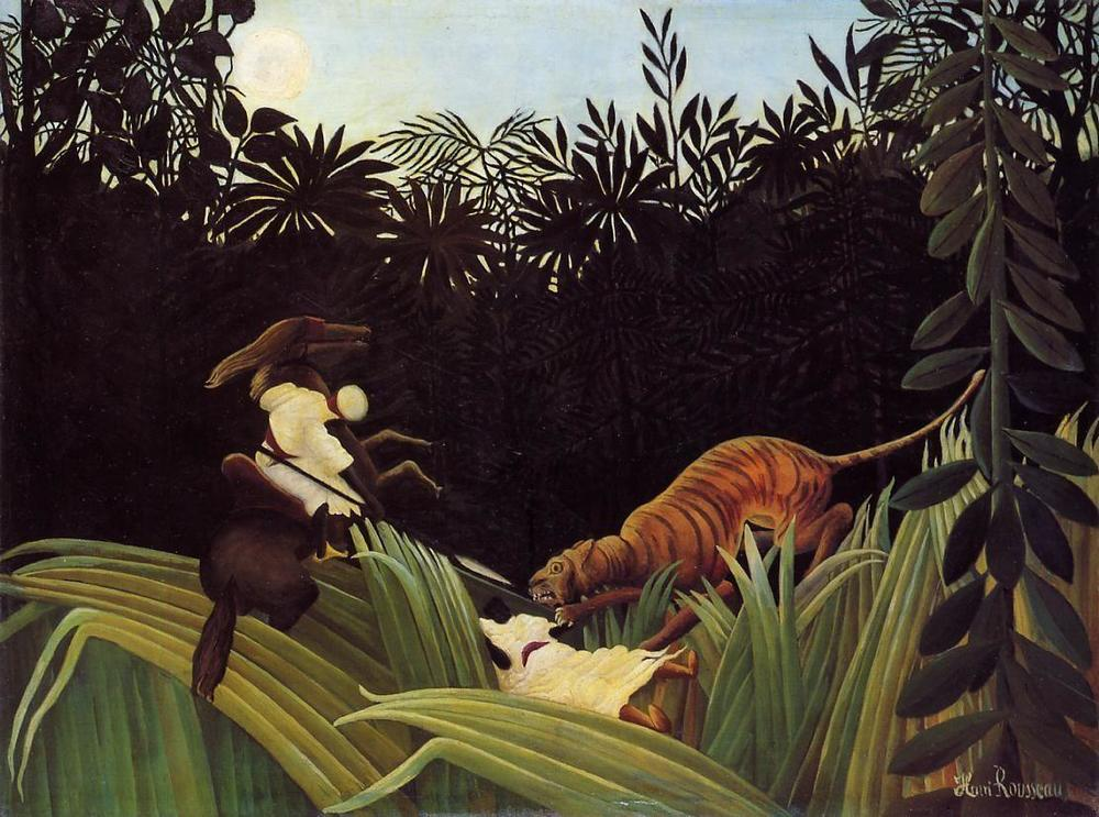 Scout Attacked by a Tiger, 1904