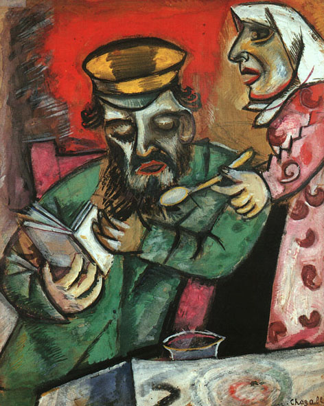 Spoonful of Milk (Chagall's Parents), 1912