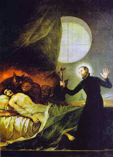 St. Francis Borja at the Deathbed of an Impenitent Man, 1788
