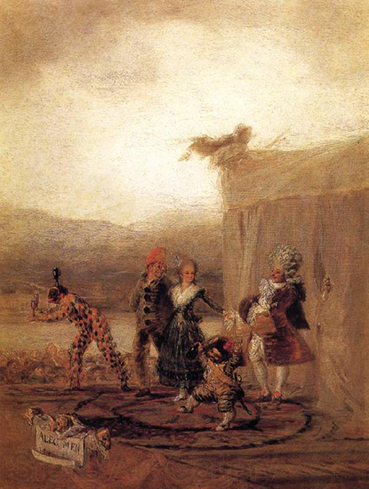 The Strolling Players, 1793