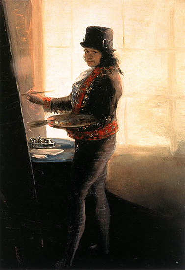 Self Portrait in the Studio, c 1795