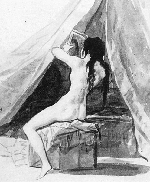 Nude Woman Holding a Mirror, 1797