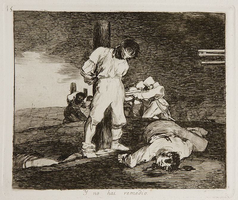 The Disasters of War:  And It Cannot Be Helped, c 1810