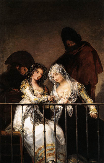 Majas on a Balcony, c 1810