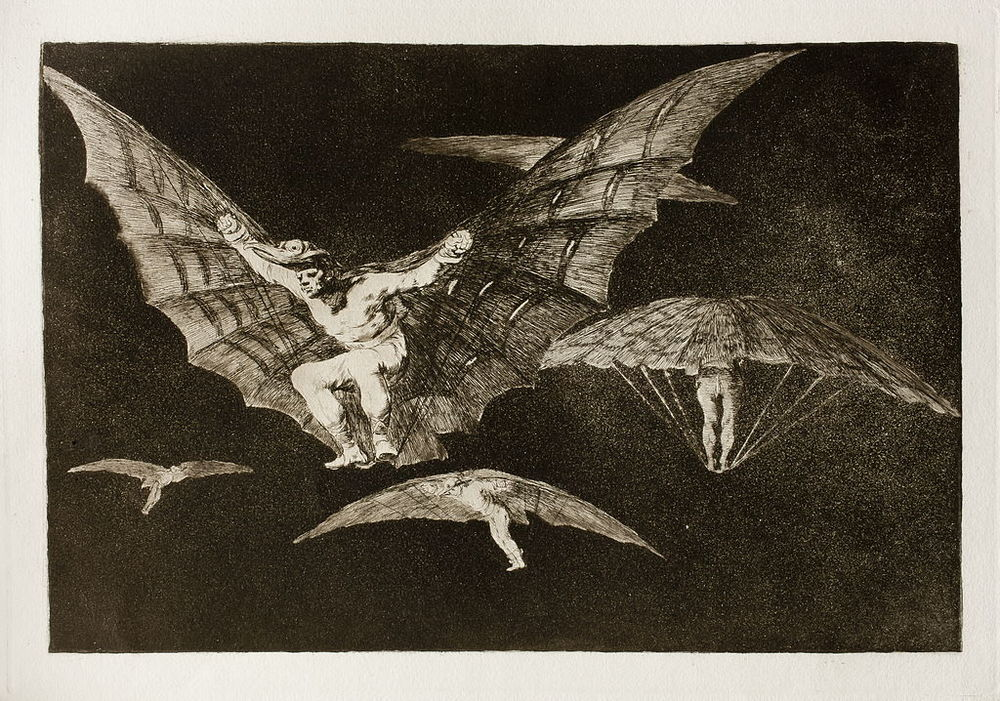 Los Disparates:  A Way of Flying, c 1819