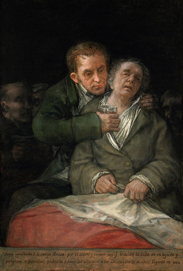 Self Portrait with Dr Arrieta, 1820