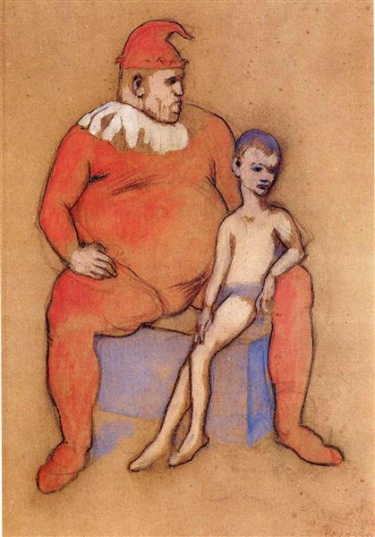 Young Acrobat and Clown, 1905