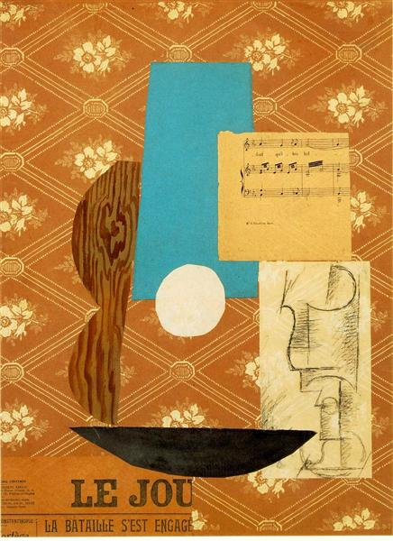Guitar, Sheet Music, and Wine Glass, 1912