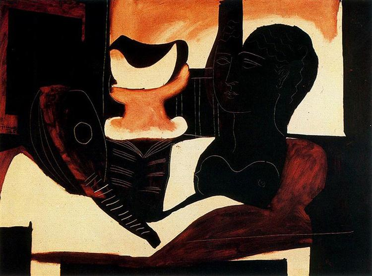 Still Life with Antique Bust, 1925