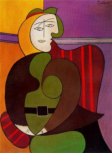 Seated Woman in Red Armchair, 1931