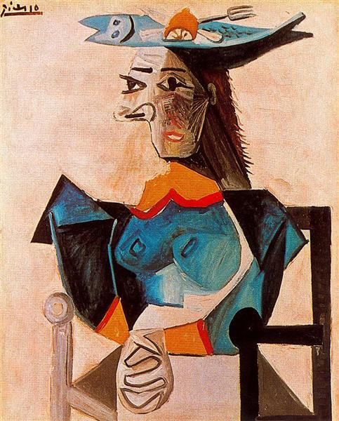Seated Woman with Fish, 1942