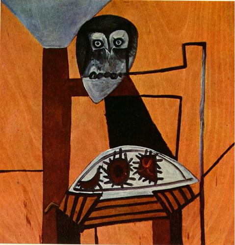 Owl on a Chair and Sea Urchins, 1946