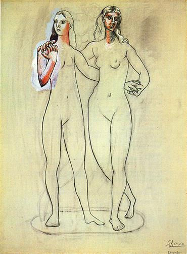 Two Nude Women, 1920