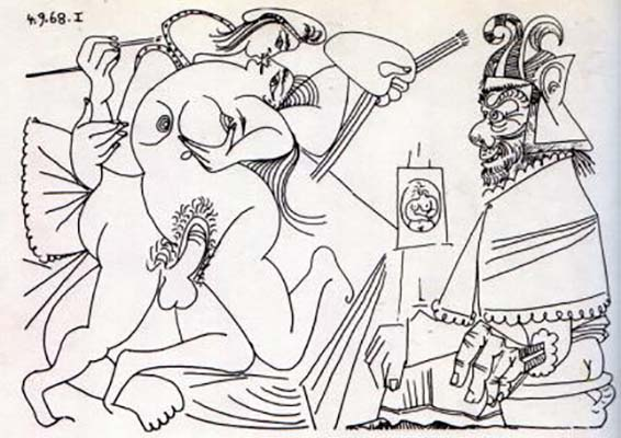 Erotic Drawing, 1968