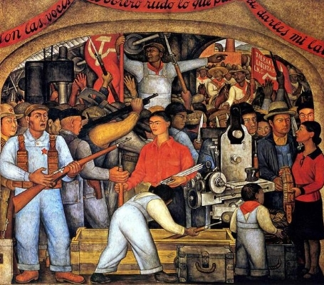 Diego Rivera,  El Arsenal , 1928