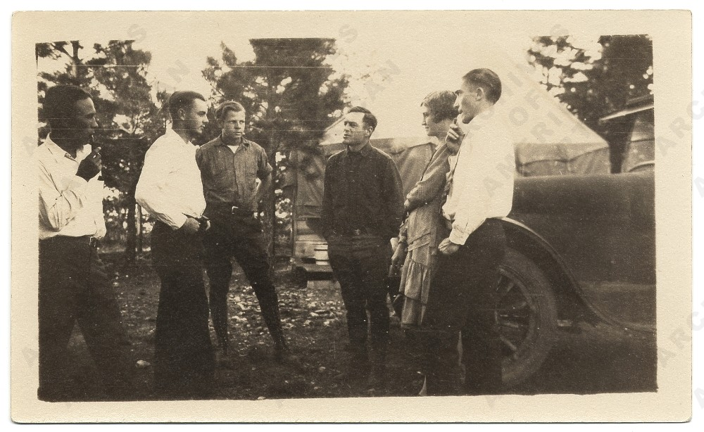 Pollock, third from left, 1929