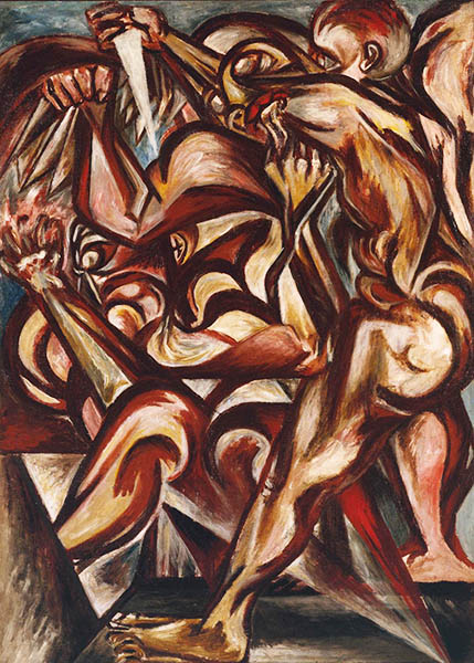 Naked Man with Knife, 1938 - 1940