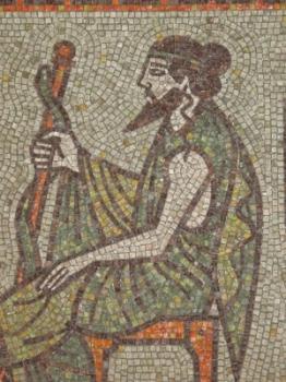 Asclepius mosaic.