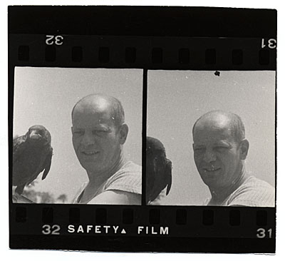 Pollock with his crow, Caw-Caw.