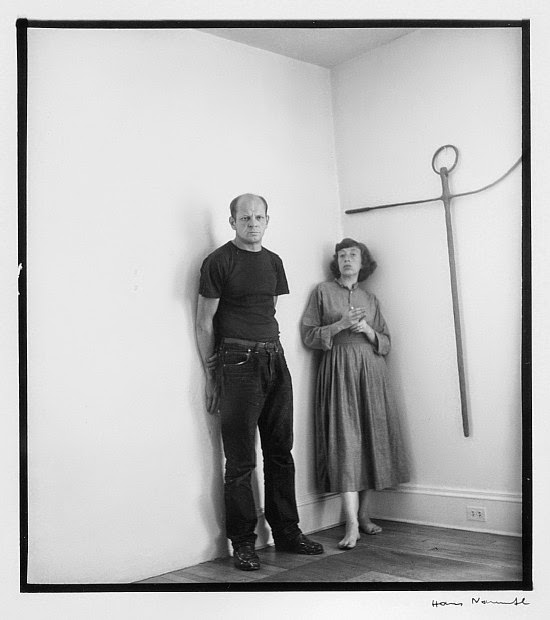 Pollock and Krasner, by Hans Namuth, 1950