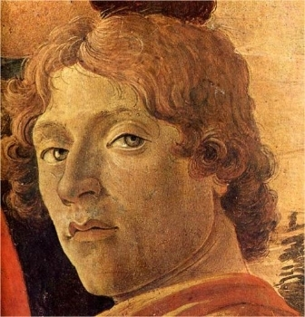 Sandro Botticelli, Self Portrait, detail from  Adoration of the Magi  (1475).