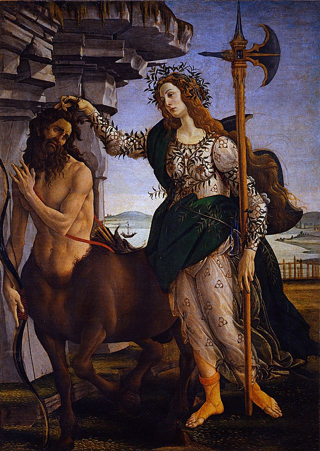 Pallas and the Centaur, 1482