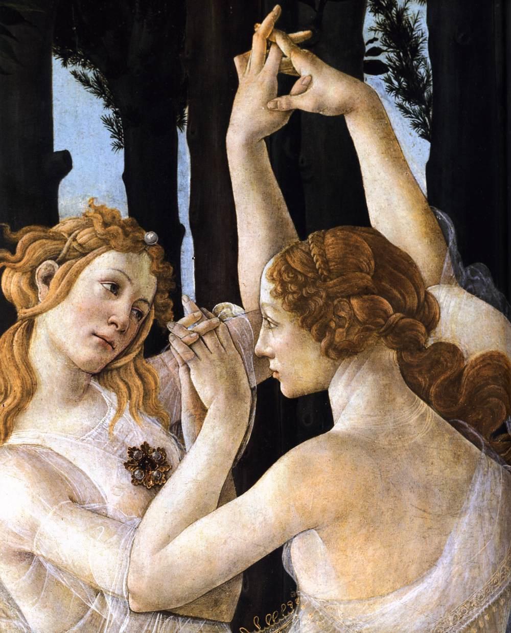 detail from Primavera, 1482
