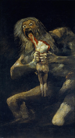 Francisco Goya,  Saturn Devouring His Children , c 1820