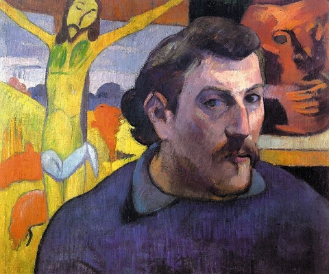 Paul Gauguin,  Self-Portrait With The Yellow Christ , 1890.