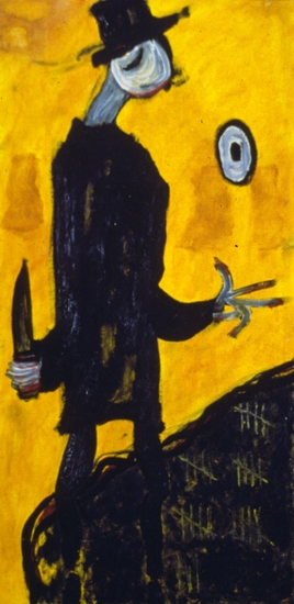 Ahab (1998), oil on wood panel, 24x48.