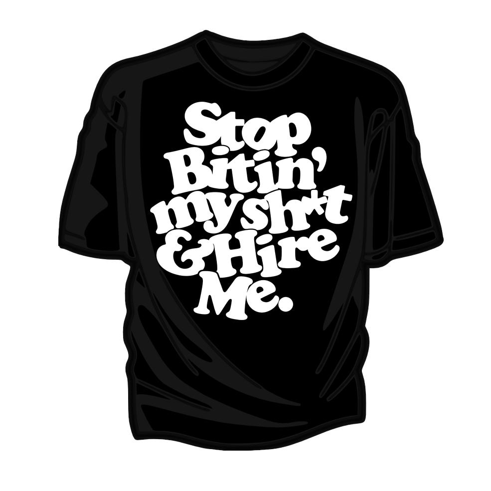 Stop Bitin' Tee      (S/M/L/XL)