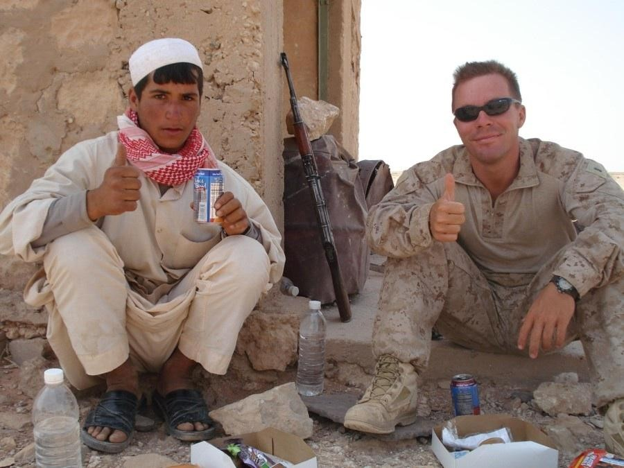 Chief Retail Operating Officer  Matt Frederick, on deployment in Afghanistan