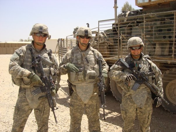 CFO Jamie Allen (middle) on deployment in Iraq